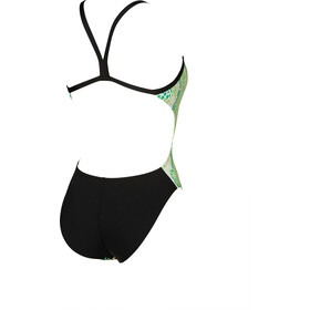 arena Snake Skin Challenge Back One Piece Badeanzug Damen golf green/black